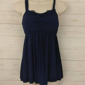 Soma Blue Tank Top Small adjustable straps